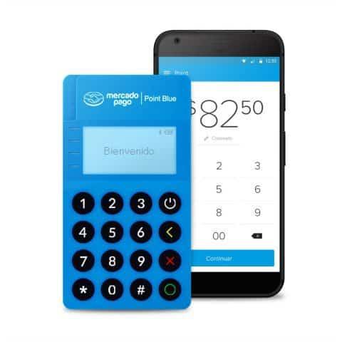 Lector De Tarjetas Con Conexión Bluetooth MercadoPago Point Blue - Azul