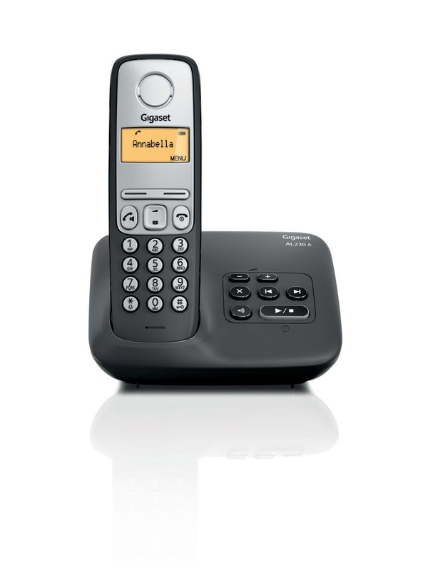 Gigaset AL230A - Single DECT telefoon met antwoordapparaat - Zwart/Zilver