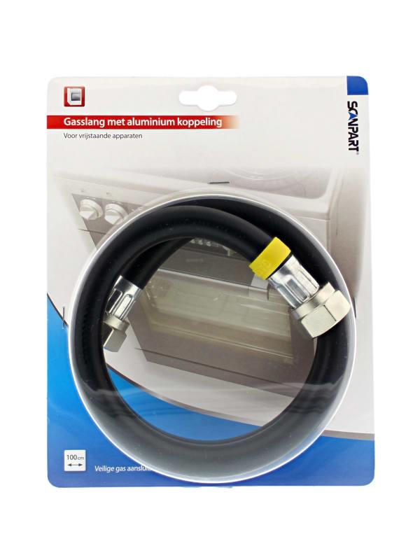 """Scanpart gasslang 1/2"""" 100cm aluminium (NL)"""