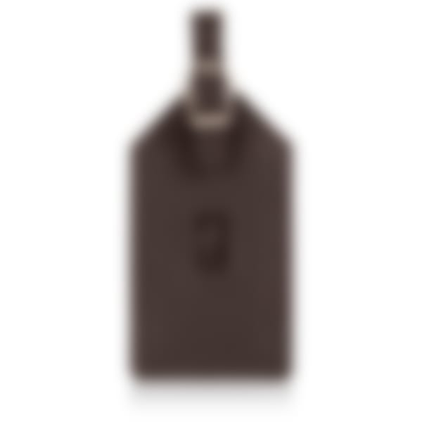 Malvern leather luggage tag