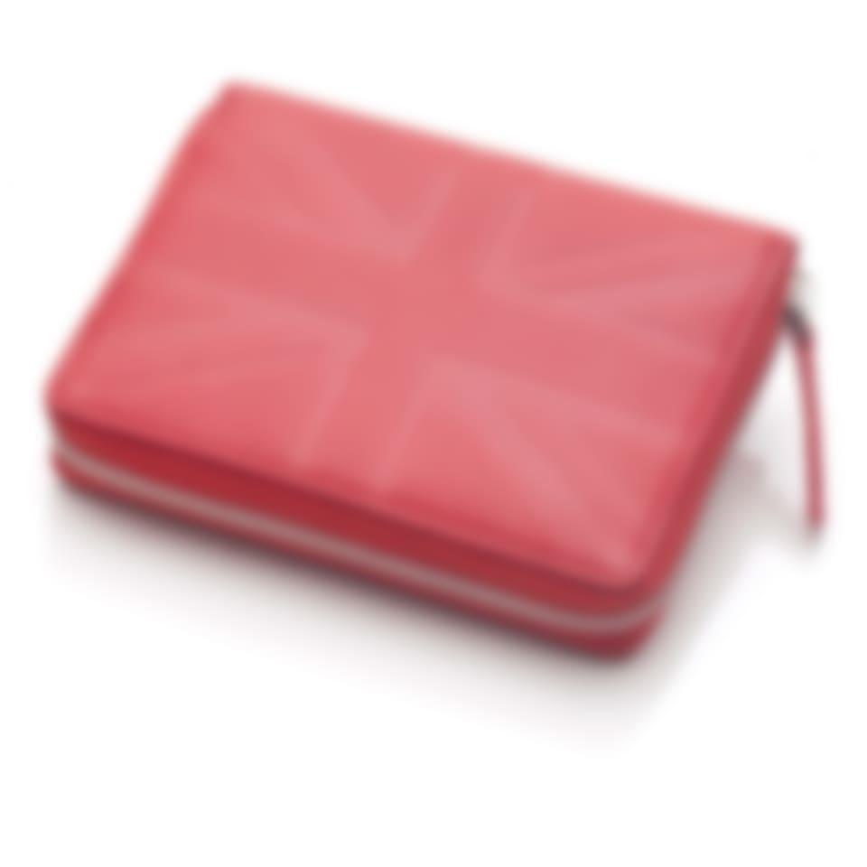 Leather zip around purse in Britannia
