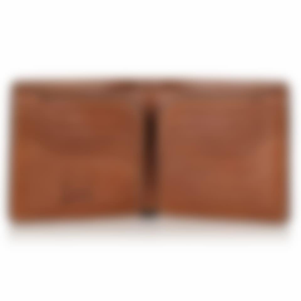 Livingstone leather billfold wallet open