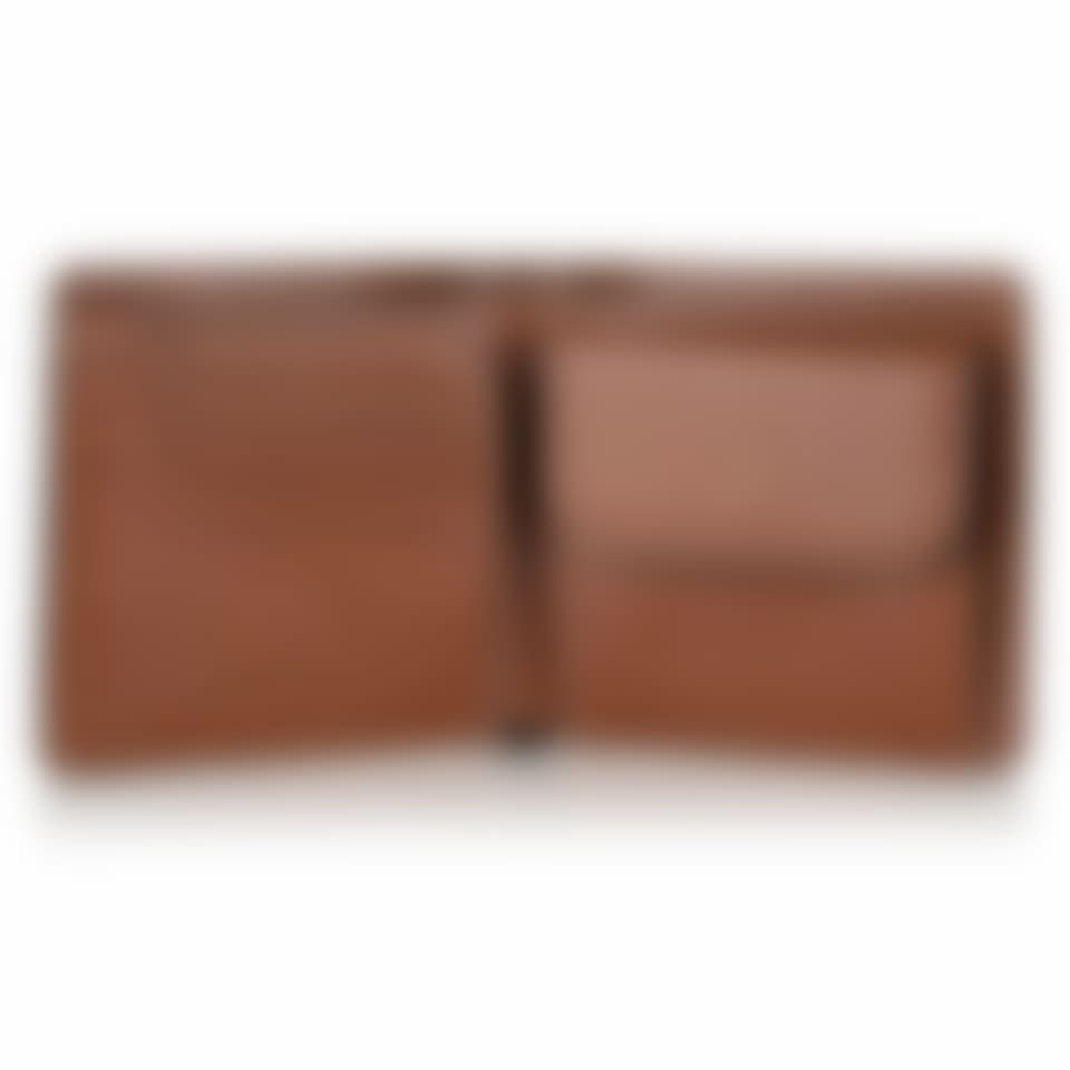 Livingstone leather coin wallet open