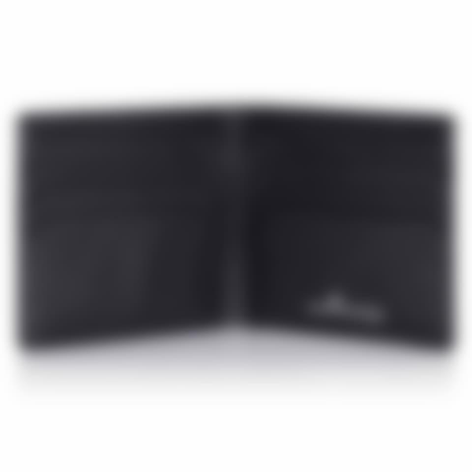 Malvern leather billfold wallet open