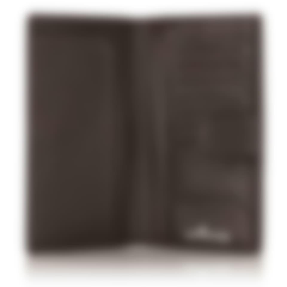 Malvern leather clutch wallet open