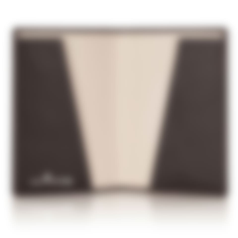 Malvern leather passport holder open