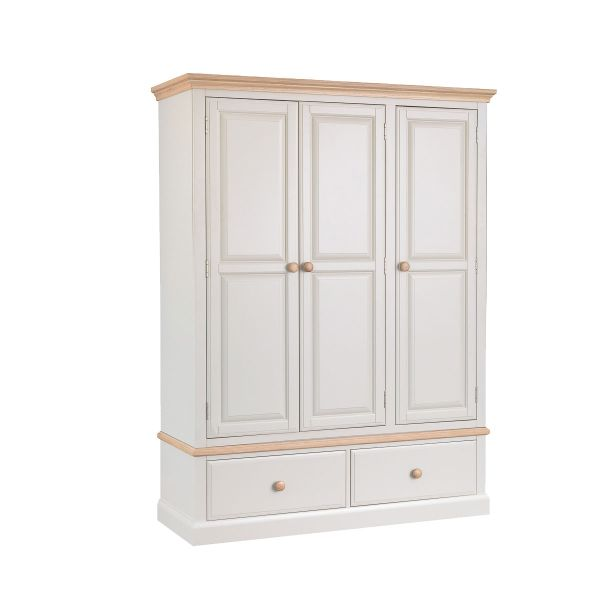 Burnell Three Door Two Drawer Wardrobe