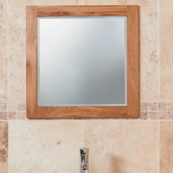 Mobel Oak Large Bathroom Mirror