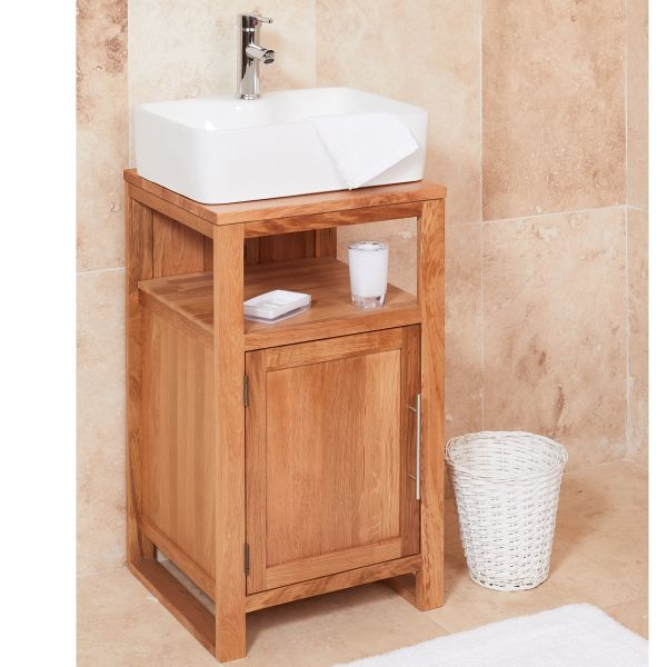 Mobel Oak Single Door Square Sink Unit