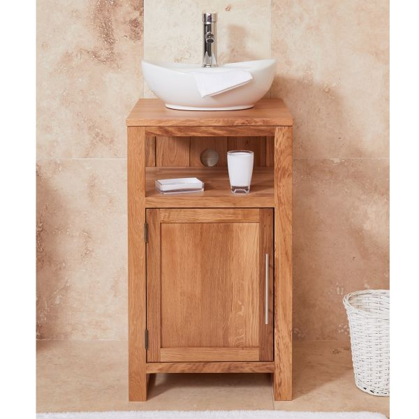 Mobel Oak Single Door Round Sink Unit