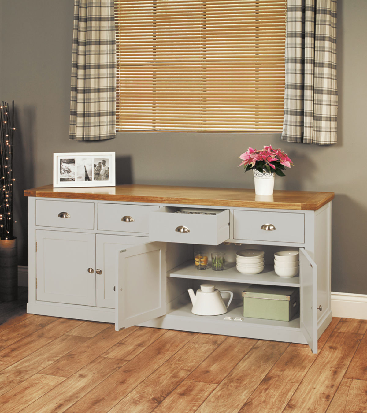Chadwick Small Sideboard With Six Drawers Wooden