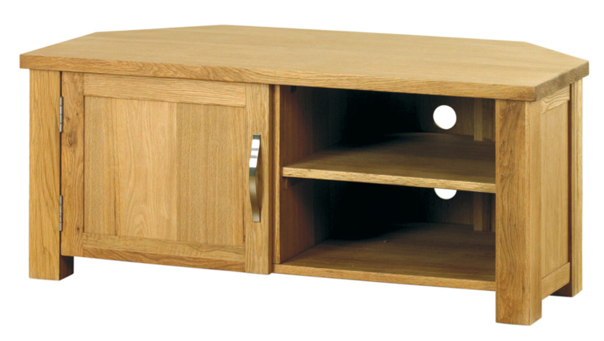 Aston Oak Corner Television Cabinet Wooden Furniture Store