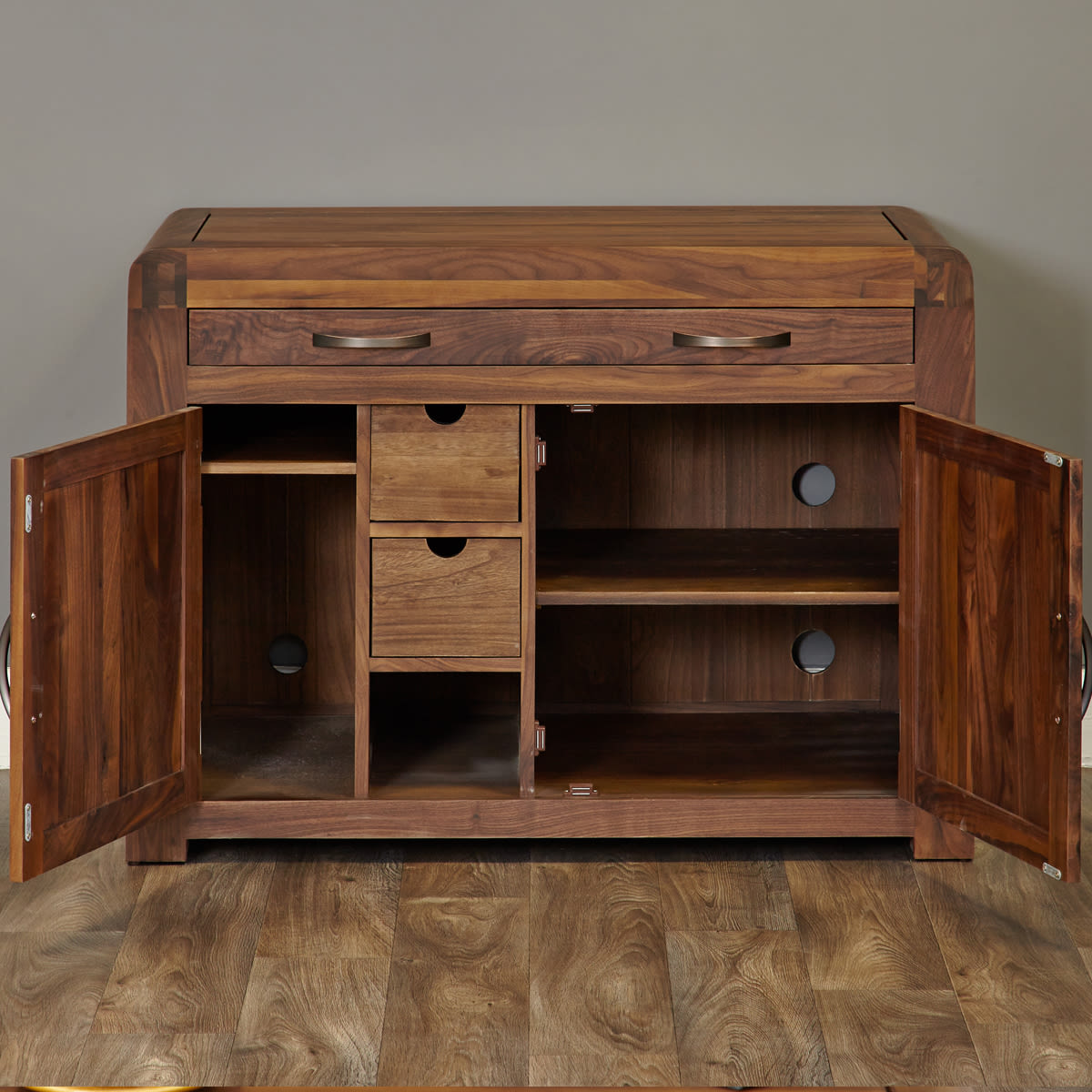 Shiro Walnut Hidden Home Office Was £720.00 Now £629.00