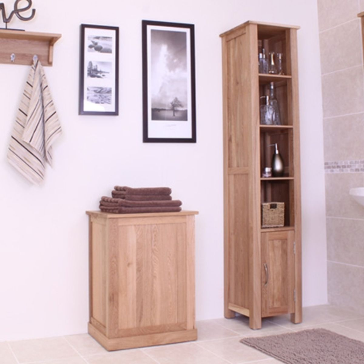 Mobel light oak laundry bin wooden furniture store for Design sale mobel