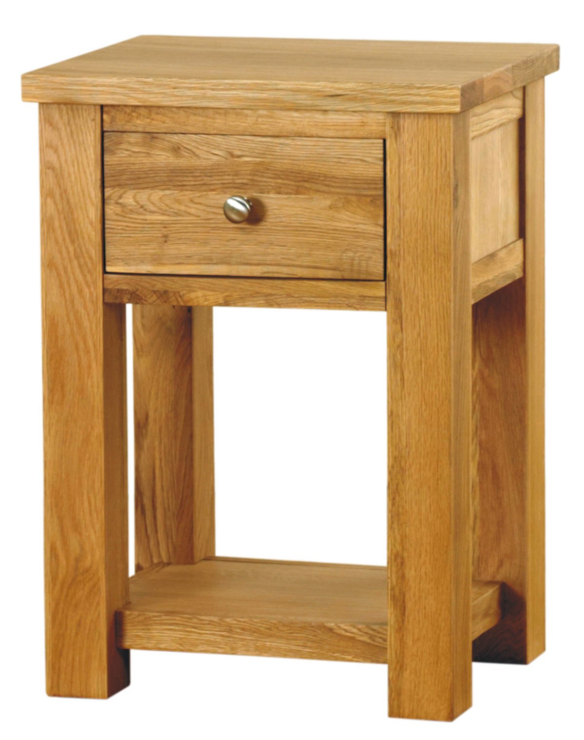 Aston Oak One Drawer Lamp Table Wooden Furniture Store