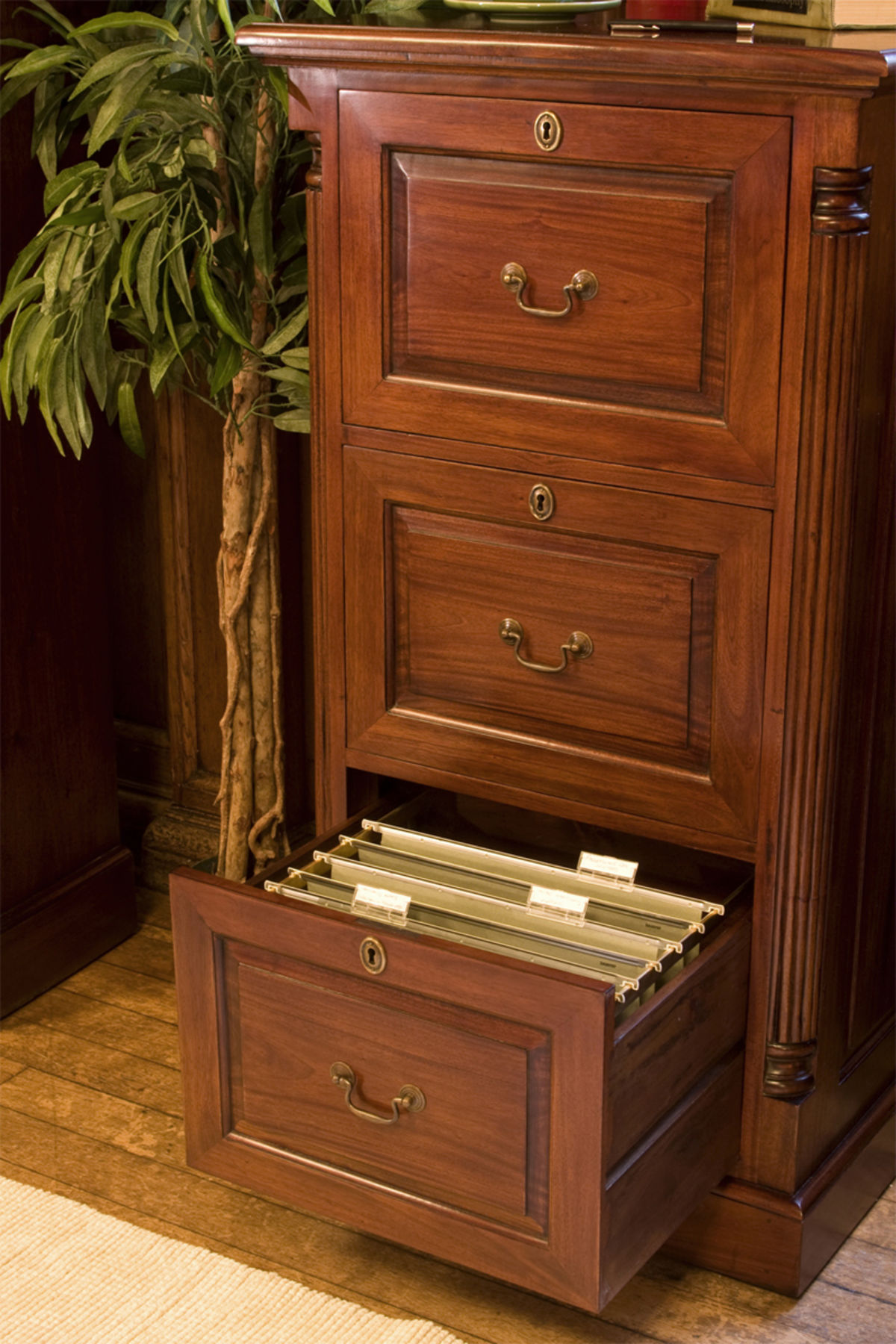 La Roque Mahogany Three Drawer Filing Cabinet Was 163 695 00