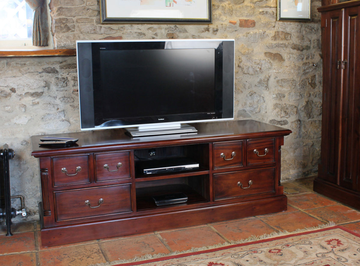 Mahogany Widescreen Television Cabinet Was £780.00 Now £