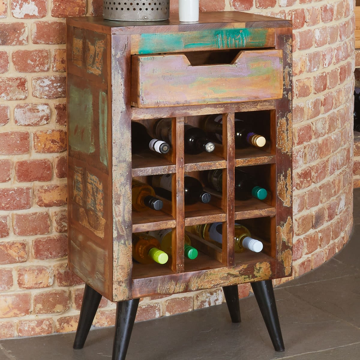 Coastal Chic Wine Rack Lamp Table Was 163 350 00 Now 163 309 00