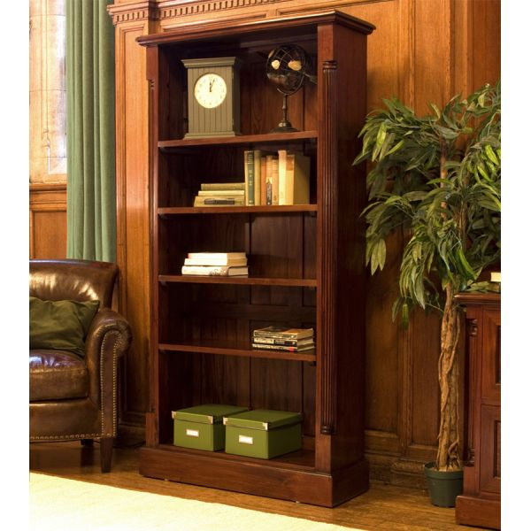 La Roque Tall Open Mahogany Bookcase