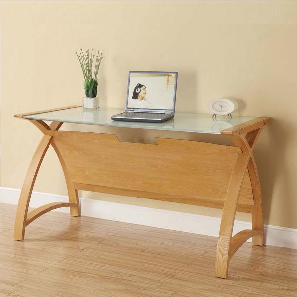 Curve Home Office Oak Table (130cm)