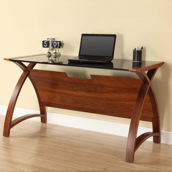 Curve Home Office Walnut Table (130cm)