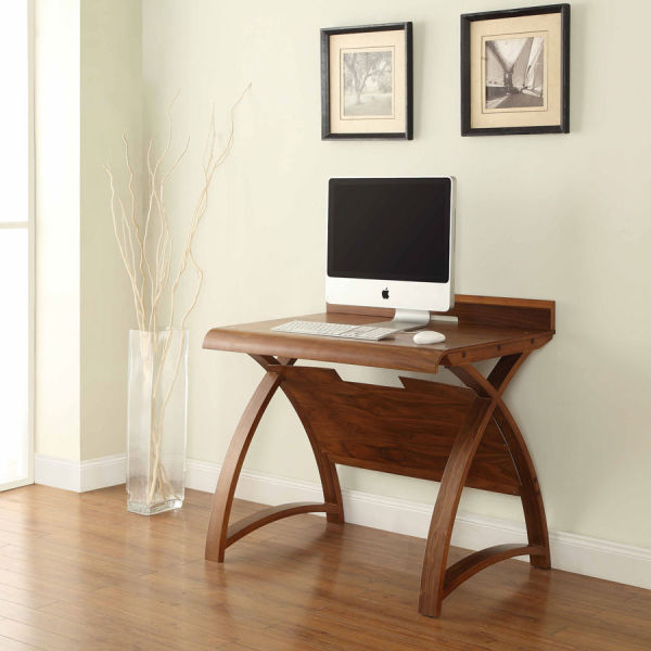 Curve Walnut (90cm) Table