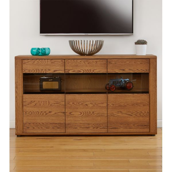 Olten Oak Large Glazed Sideboard