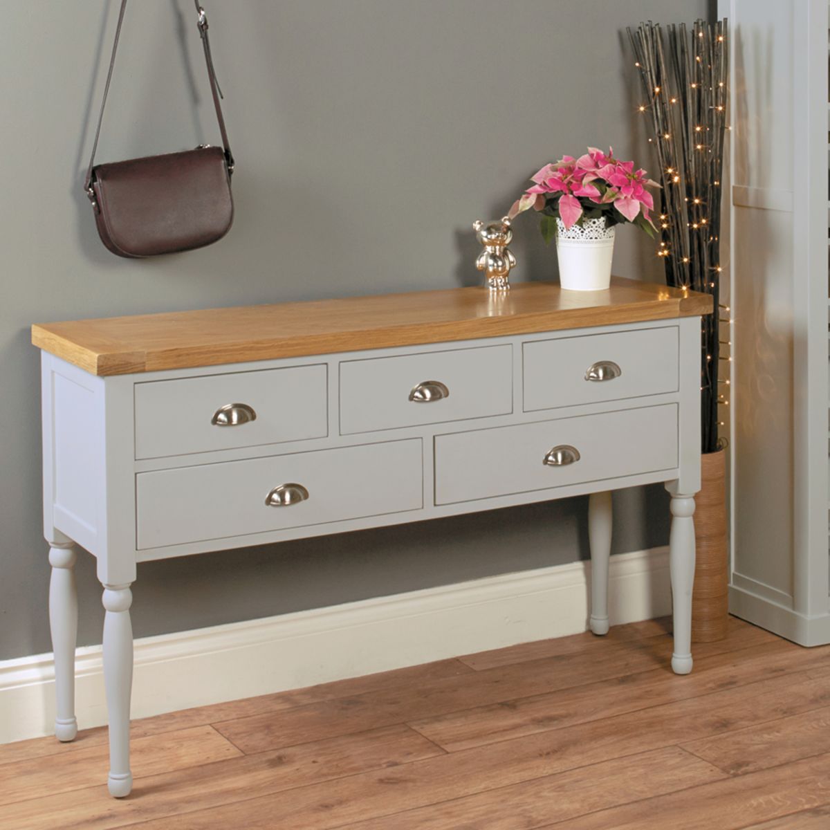 Chadwick Grey Painted Console Table