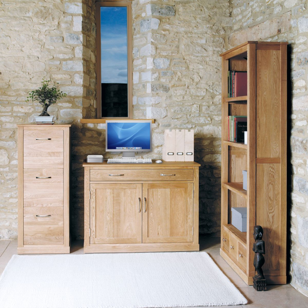 mobel oak hidden home office buy online at wooden furniture store
