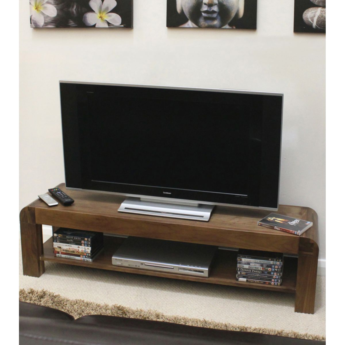 Buy Shiro Walnut Low Tv Cabinet Online At Wooden Furniture Store