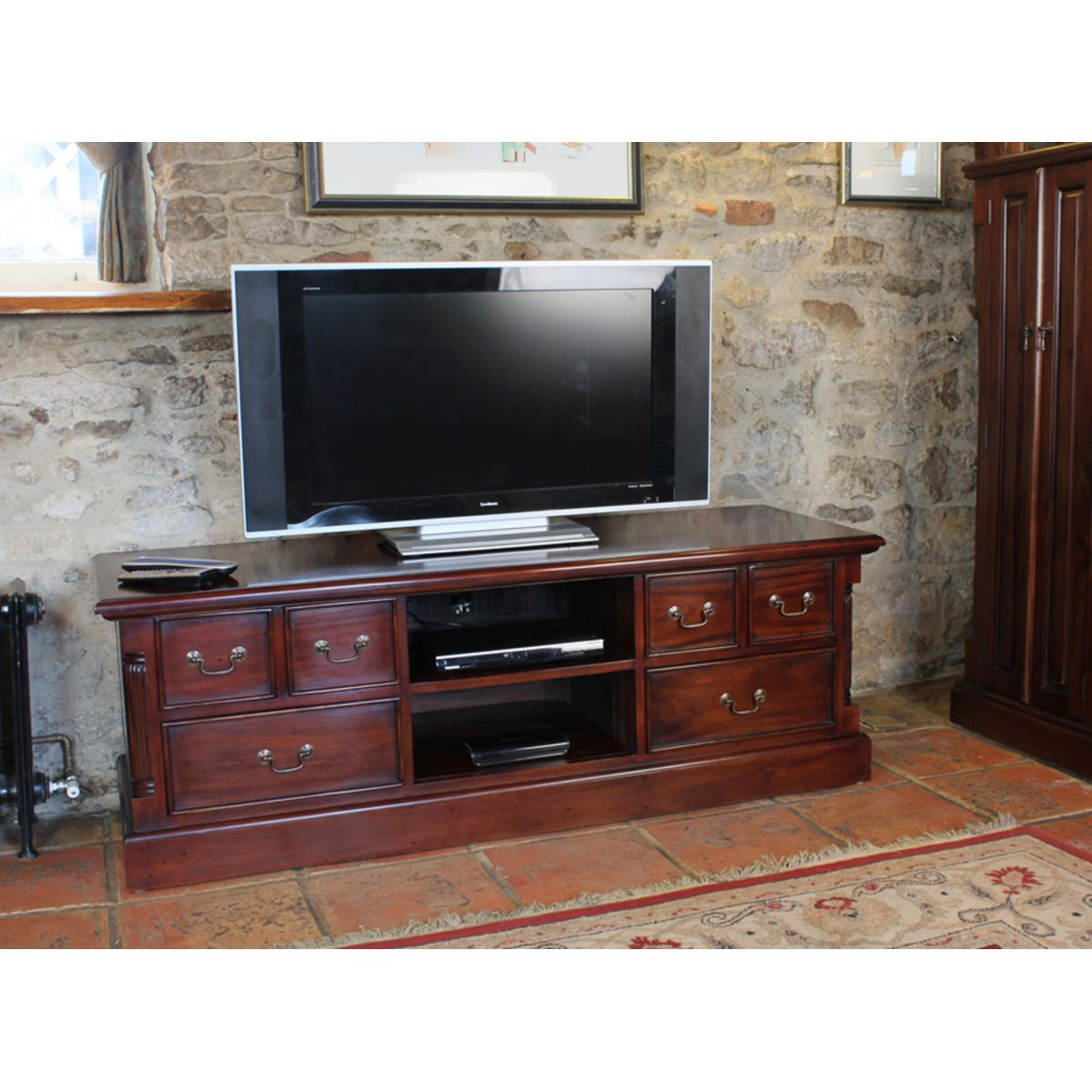 Mahogany Widescreen Television Cabinet Wooden Furniture Store