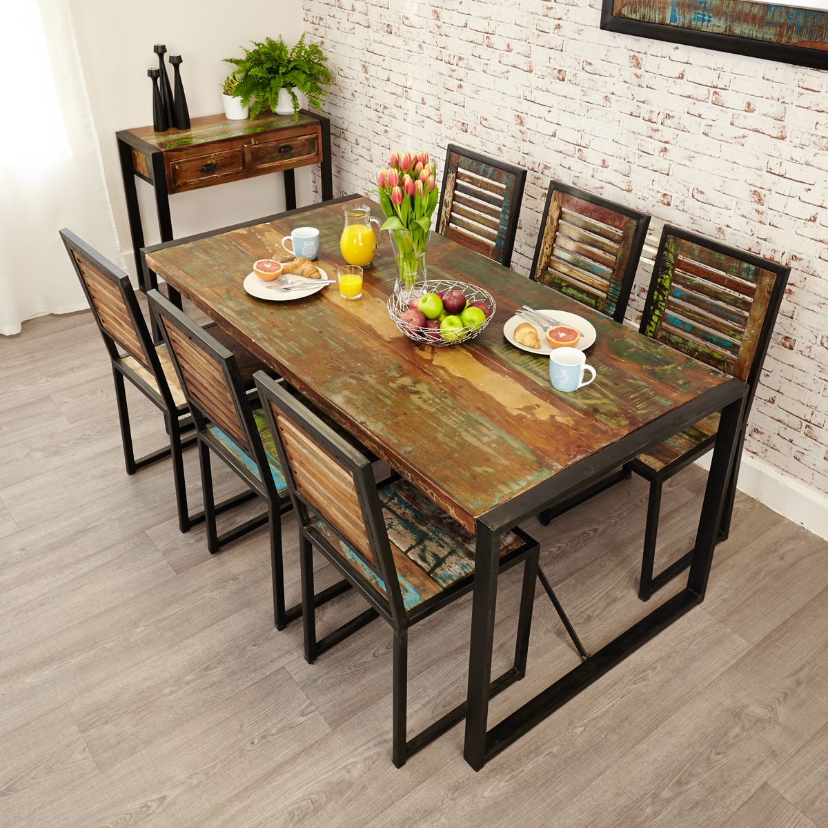 Urban Chic Large Dining Set Wooden Furniture Store
