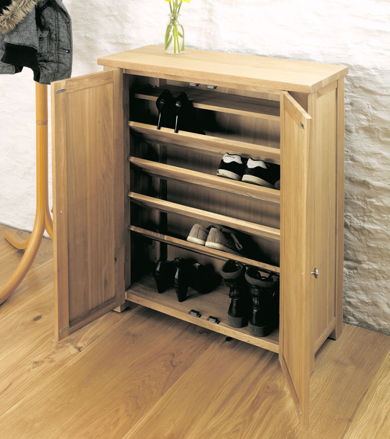 Aston Oak Shoe Cupboard Wooden Furniture Store