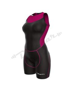Women Triathlon Suit-Black / Pink-2X-Large