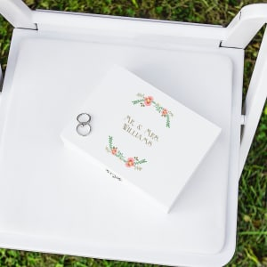 Floral Wedding Ring Bearer Box