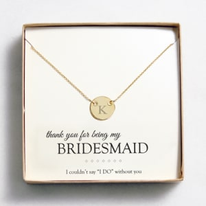 Personalized Medallion Necklace with Single Initial