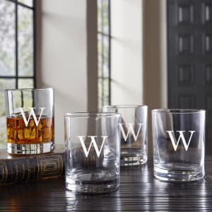 Personalized Double Rocks Glasses, Set of 4