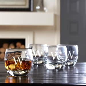 Personalized Over-the-Rocks Glasses - Set of 4