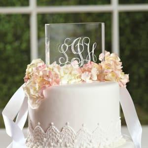 Script Monogram Acrylic Cake Top
