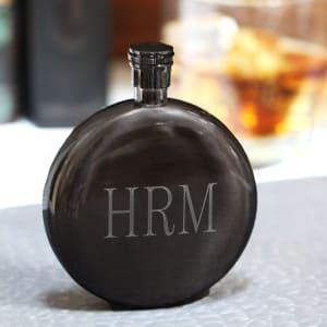 Round Gunmetal Flask