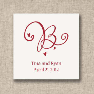 Decorative Initial Favor Tags, sheets of 20