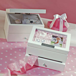 Keepsake Jewelry Box With Photo Frame