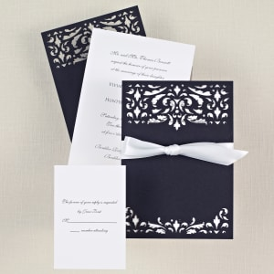 Midnight Romance Wedding Invitation