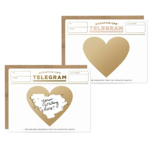 Scratch-Off Handwritten Telegram Card