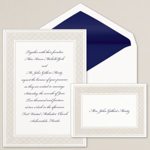 Luminous Border Wedding Invitation