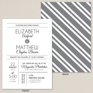 Contemporary Affair Wedding Invitation