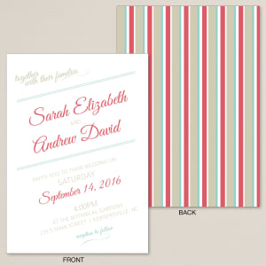 Striped Affair Wedding Invitation