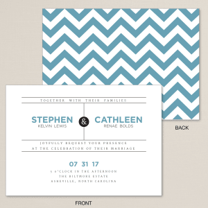 Electric Chevron Wedding Invitation