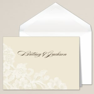 Timeless Lace Thank You Note