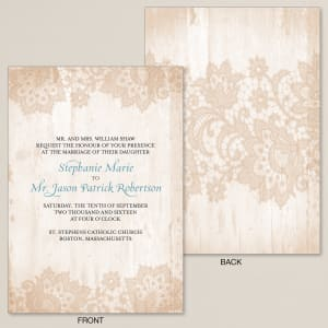 Woodland Lace Wedding Invitation